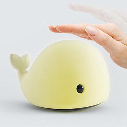 Ecosin USB Charge Lovely Dolphin Smile Face Night Light Children Bedroom Decor Mini LED Lamp (Abs Silk Dresses)