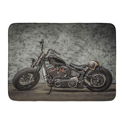 (Casual WmT Doormats Bath Rugs Outdoor/Indoor Door Mat Harley Motorcycle Cool Davidson Vintage Bike Chopper Classic Bathroom Decor Rug 16