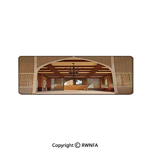 (Traditional Arabian Architecture in Doha Qatar Middle East Oriental Landmark Hotel Waterproof Keyboard pad,(11.8