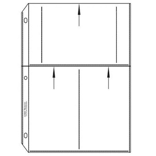 C-Line 4'' x 6'' Multiview Polypropylene Photo Holders - 50/BX