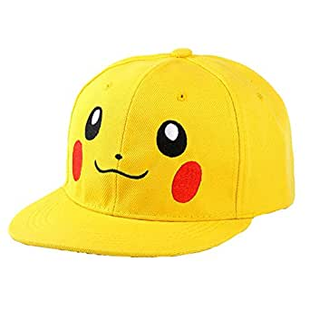 Yellow Baseball & Snapback Hat For Unisex