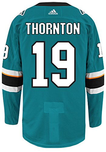 Joe Thornton San Jose Sharks Adidas Authentic Home NHL Hockey ()