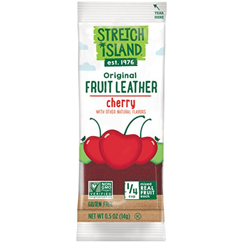 Fruit Leather - Stretch Island Original Fruit Leather, Orchard Cherry, 0.5-Ounce Bars (Pack of 30)