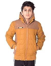 Boys Kids Double Zip Quilted Jacket
