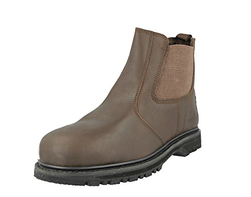 Chelsea Safety Steel Protective Cap Slip On Brown Dealer Mens Groundwork Work Toe Boots TZqII
