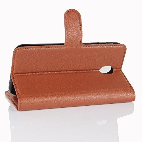 Funda Samsung Galaxy J3(model 2017),Manyip Caja del teléfono del cuero,Protector de Pantalla de Slim Case Estilo Billetera con Ranuras para Tarjetas, Soporte Plegable, Cierre Magnético(JFC10-3) I