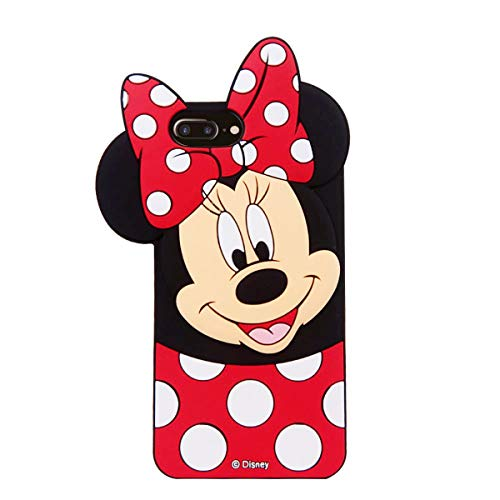 Girl Cartoon Character (Cases for iPhone 8 Plus, iPhone 7 Plus Case, iPhone 6S Plus /6 Plus Minnie 3D Cartoon Slim TPU Protective Shockproof Cover, Kids Girls Gifts Cases, Thick Protector Skin for)