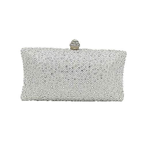 YHB478 BESTWALED Silver Argenté Silver pour Pochette 4 Femme 1rqr7SxX