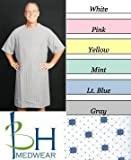 BHmedwear Velcro® Closure Hospital Gown, 2XL, Blue