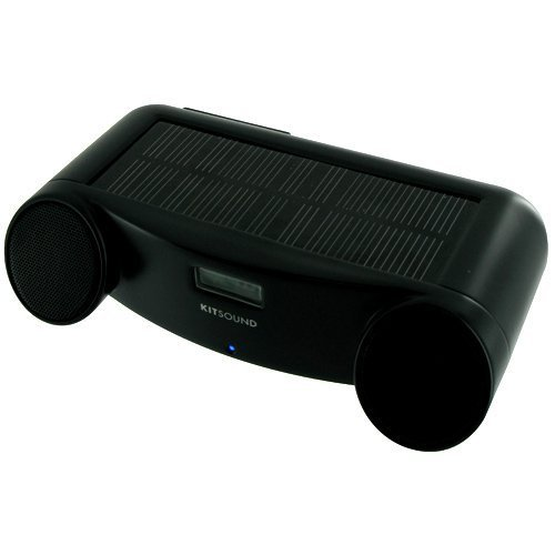 Kit Sound - Infinity X Solar Powered Portable Speaker for iPod / iPhone 3G 3GS 4 - Black
