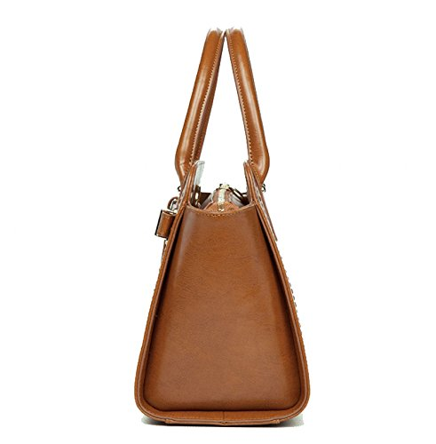 Shoulder Package Europe Handbags Work Leather And Street Ladies Brown Tide United Bags The Handbags Diagonal Leisure brown Ghmm Travel States 4FSBxW1qfw