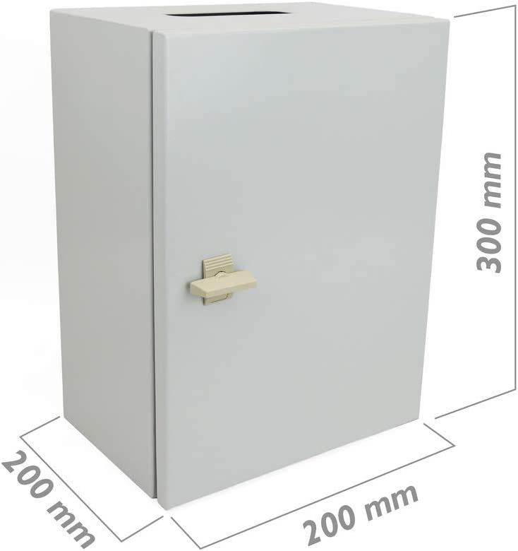 Cablematic Caja de distribuci/ón el/éctrica met/álica con protecci/ón IP65 para fijaci/ón a pared 300x200x200mm