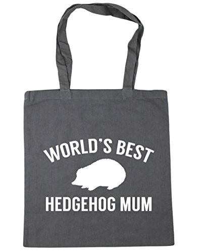 HippoWarehouse 42cm Shopping Gym x38cm Graphite World's Bag best Beach litres mum Tote Grey hedgehog 10 zUzwqa