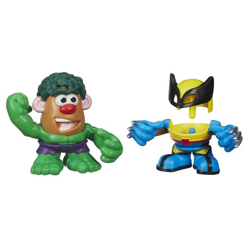 Playskool Mr. Potato Head Marvel Mixable Mashable Heroes as Hulk and Wolverine, 2-Inch