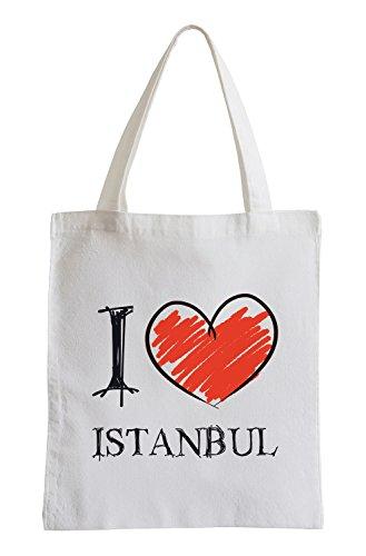 Amo Istanbul Fun sacchetto di iuta