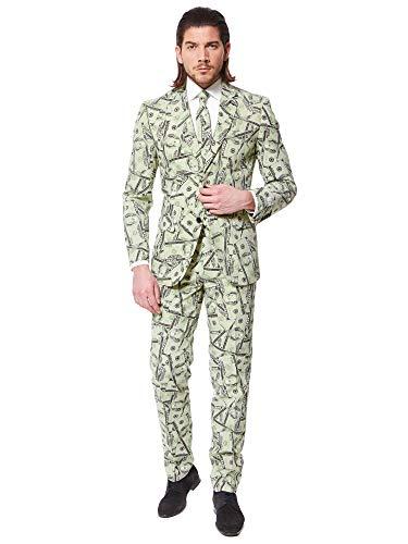 One Hundred Dollar Bill Costumes - OppoSuits Men's Cashanova Party Costume Suit,