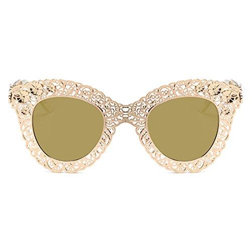 Sunglasses Trend sol Gafas retro de Tirano de Trend Eye Frame Gafas de Oro de Cat Gafas sol sol Huicai decorativas 8q0vw5