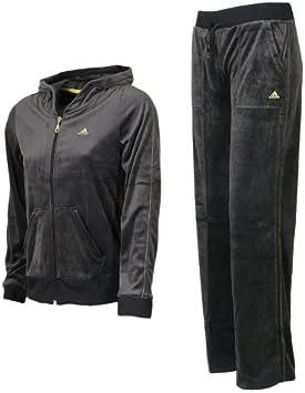adidas VELOUR SUIT Trainingsanzug schwarz