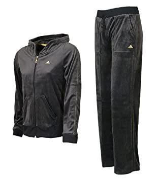 detailed pictures cute wholesale online adidas VELOUR SUIT Trainingsanzug schwarz