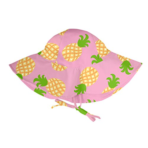 i play. Baby Girls' Brim Sun Protection Hat, Pink Multi Pineapple, 0-6 Months