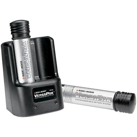 Black Decker VP135 VersaPak 3 6 Volt 2 Port 3 Hour Stick Style Battery Charger With 2 VP100 Batteries