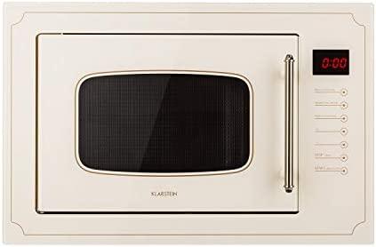 Klarstein Victoria empotrable de microondas 25 l beige: Amazon.es ...