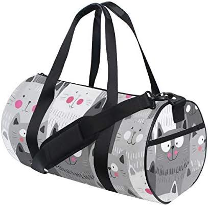 ボストンバッグ 大きな顔の猫 可愛らしい 猫柄 ジムバッグ ガーメントバッグ メンズ 大容量 防水 バッグ ビジネス コンパクト スーツバッグ ダッフルバッグ 出張 旅行 キャリーオンバッグ 2WAY 男女兼用
