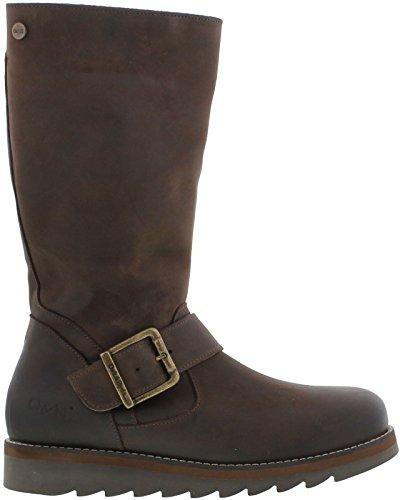 Coast Womens Mid Hyde Oak Leather amp; Brown Calf Boots UqSFWp
