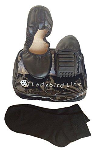 Lieveheersbeestjes Lijn Dames Comfortabele Schoenen Extra Zacht En Flexibel Antislip Rubberen Zolen Zwart