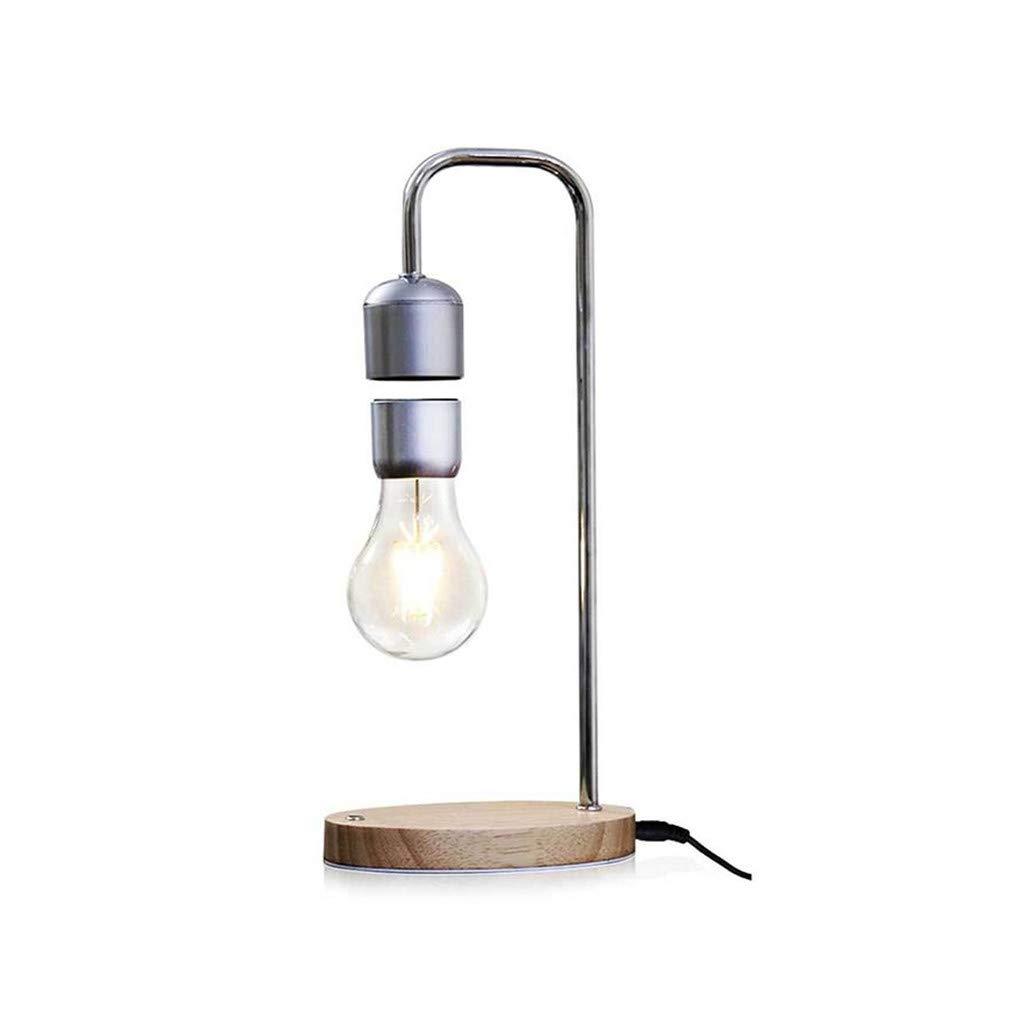 FeiliandaJJ Schwebendes LED Licht Bulb Retro Creative Anti Schwerkraft Lampe Magnetische Lampe Levitating Light Bulb Tischleuchte Geschenk f/ür Freund Kinder Silber