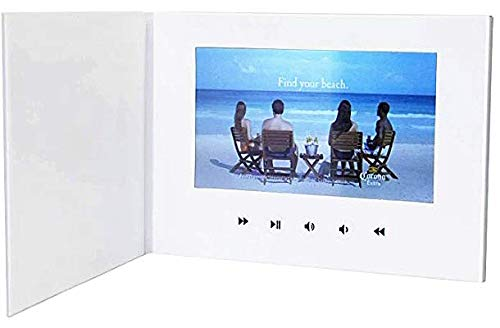 "LuguLake 7"" Video Greeting Card, Video Brochure for Christmas, Anniversary, Marketing Include 2G Memory and Rechargeable Battery LCD Screen Digital Photo Frame"
