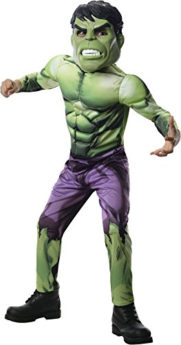 Rubies Marvel Universe Classic Collection Avengers Assemble Deluxe Incredible Hulk Costume, Child Large (Incredible Hulk Marvel Universe)