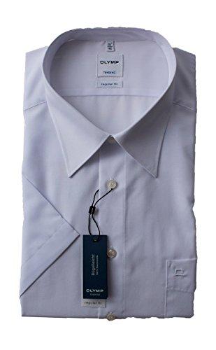 Olymp Tendenz kurzarm Hemd - weiß, Kragenweite:40