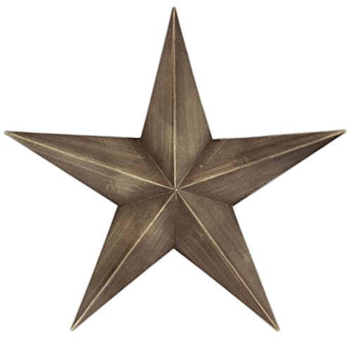 Rustic Star (Country House Vintage Style Indoor Hanging Metal Barn Star (12