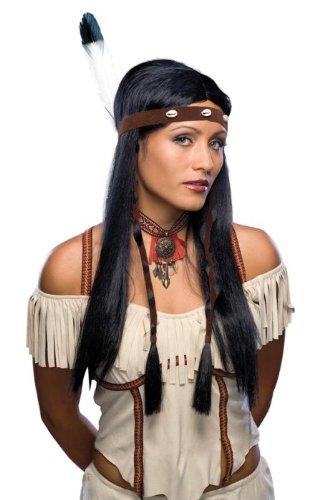 Net Toys Indianerin Perucke Schwarz Damen Indianerperucke Frauen