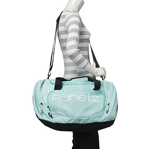 af8bec4386f5 Runetz - TEAL Hot Blue Gym Bag Sport Shoulder Bag for Men   - Import It All