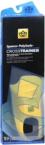 Spenco PolySorb Cross Trainer Insoles Size 3 1 Pair (Pack of (Spenco Polysorb Cross Trainer)
