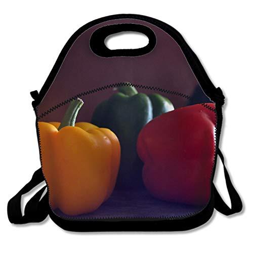 Hipster Portable Lunchbox Handbag for Men Women Adult Kids Various Pepper