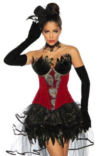 Unbekannt - Corsé - para mujer rojo y negro