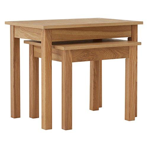 Premier Housewares Westbury Nest of 2 Tables, Oak/Wood - Natural