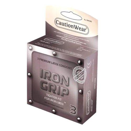 Paradise Marketing Caution Wear Iron Grip Snug Fit, 3 Count