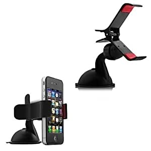 Gadget Decor Smartphone Car Mount Holder with suction cup - Multi-angle 360° Degree Rotating Clip Windshield Dashboard Audi A8