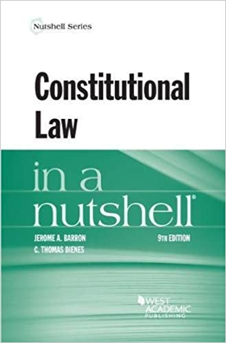 Amazon com: Constitutional Law in a Nutshell (Nutshells