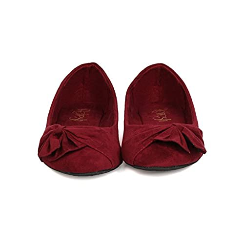 9f4d53e29 Women Faux Suede Bow Flat - Casual, Dressy, Office - Ruched Ballet Flat -