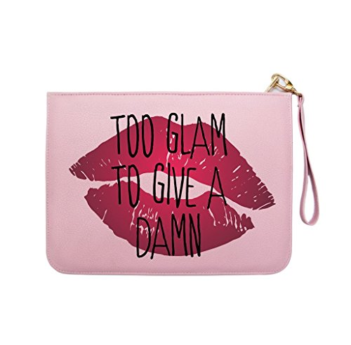 Glam Leather Clutch - 9