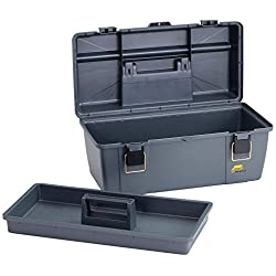 Portable Tool Box, 20-1/4 In. W, Gray