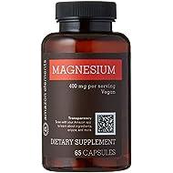Amazon Elements Magnesium 400mg, Vegan, 65 Capsules