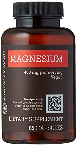 Health & Personal Care : Amazon Elements Magnesium Oxide 400mg, 65 Capsules