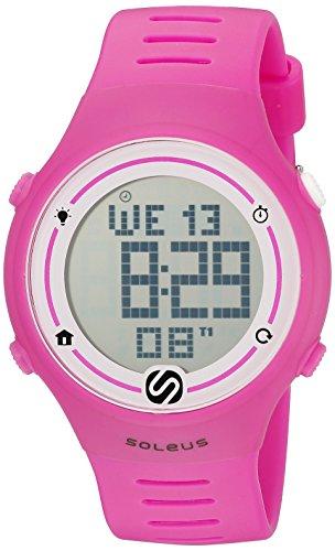 Soleus Unisex SR022-630 Sprint Digital Display Quartz Pink Watch