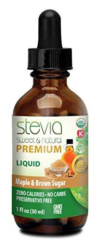 ANUMED INTERNATIONAL Maple Brown Sugar Stevia Liquid, 0.02 Pound